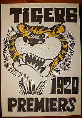 1920 Richmond Premiers Weg poster Tigers Premiership