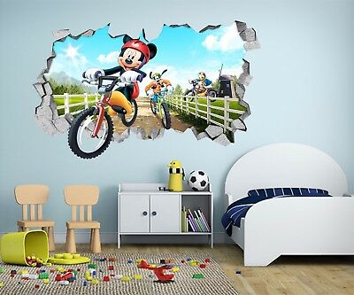 3D Mickey Mouse 201 Wall Murals Wall Stickers Decal Breakthrough AJ WALLPAPER AU