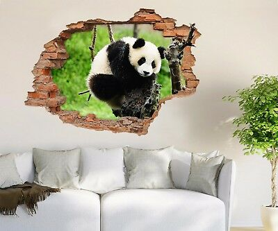 3D Funny Panda 3230 Wall Murals Wall Stickers Decal Breakthrough AJ WALLPAPER AU