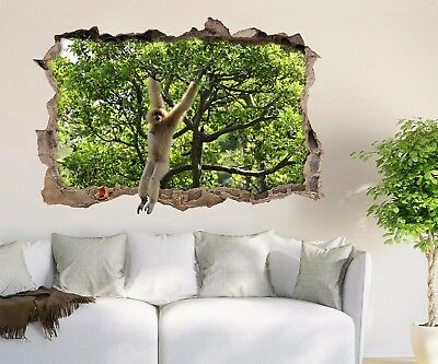 3D Naughty Monkey 3 Wall Murals Wall Stickers Decal Breakthrough AJ WALLPAPER AU