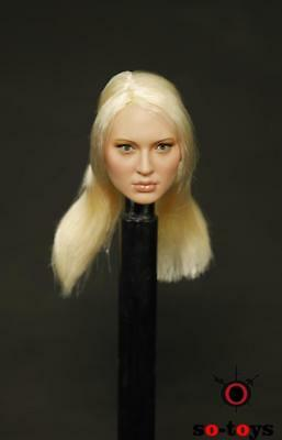 "SO-TOYS SO-05 Sucker Punch Blonde Planted Hair 1/6 Female Head Fit 12"" Figures"