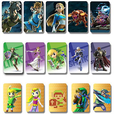 18 Full Set NFC PVC Tag Card ZELDA BREATH OF THE WILD WOLF LINK &&
