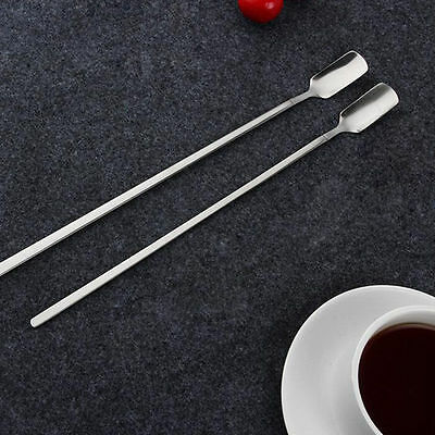 Bar Spoon Stainless Steel Cocktail Drink Mixer Puddler Stirring Silver LE