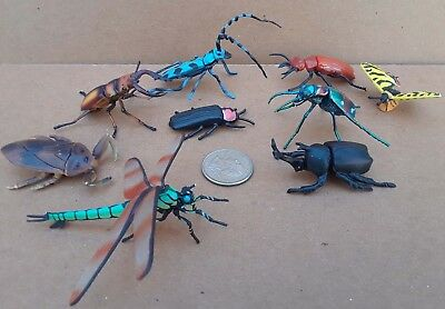 12 Kaiyodo ChocoEgg ChocoQ insects beetles, dragonfly, grasshoppers, detailed!