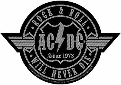 AC/DC rock n roll will never die Patch 3x3 inch