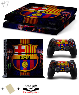 BARCELONA LOGO PS4 Skin Vinyl Decal PlayStation 4 Console Sticker Barca FCB