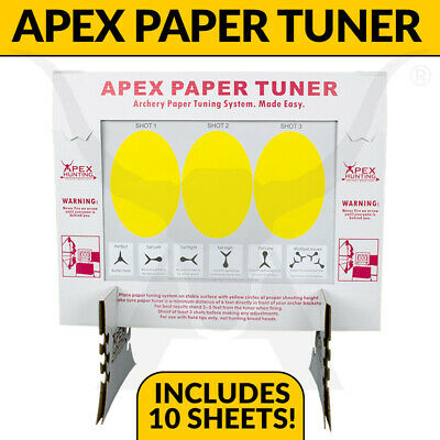 Apex Paper Tuning Kit - Compound Bow Tuner - Includes 10 Sheets - Archery
