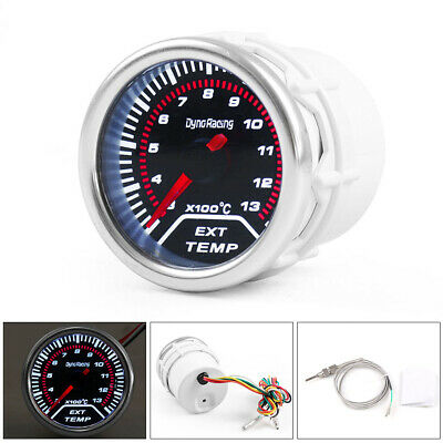 Universal 2'' 52MM Car Exhaust Gas Temp Temperature Gauge EGT Meter Smoke lens