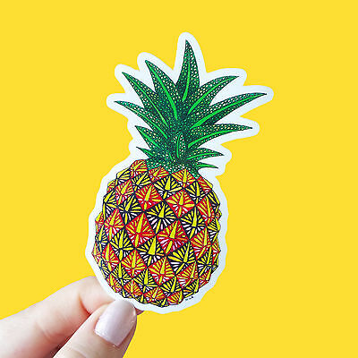 Vinyl Sticker Pineapple Waterproof Sticker Decal Laptop Sticker Skateboard Art