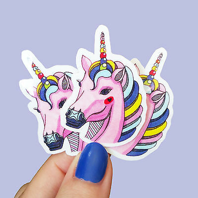 Unicorn - Mini Vinyl Stickers Waterproof Set Laptop Planner Pony Party Decals