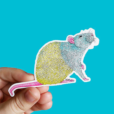 Vinyl Rat Sticker - Waterproof Sticker, Mouse Sticker, Laptop Sticker, Rat Lover