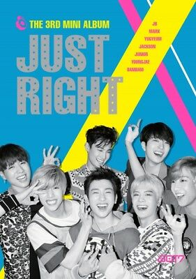 GOT7 [JUST RIGHT] 3rd Mini Album CD+84p Photo Book+Photo Card+GIFT K-POP SEALED
