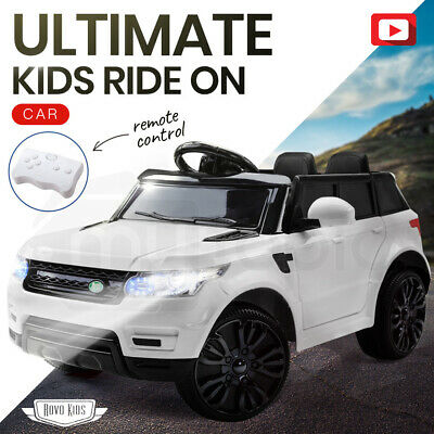 NEW ROVO KIDS RANGE ROVER SPORT Inspired Ride-On Car Toy Electric Battery White