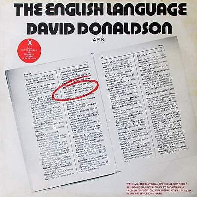 LP: David Donaldson - The English Language - Creole Records - STAG 1