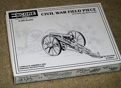 ENCORE Civil War Field Piece Canon 1/24 scale plastic model kit (44)
