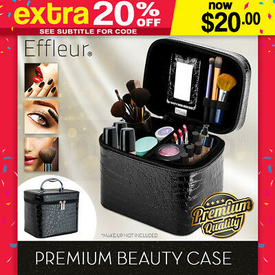 Makeup Case Beauty Cosmetics Portable Professional Travel Organiser Bag Vanity