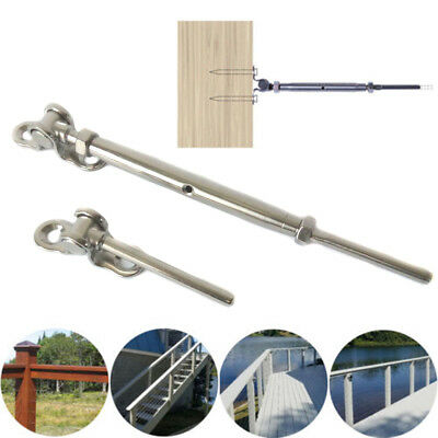 316 Stainless Steel Swage Turnbuckle Deck Toggle Terminal For 3/16 Cable Railing