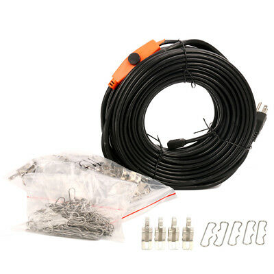 160FT,Heat Roof Gutter De-icing Ice Snow Melter Cable Tape Kit