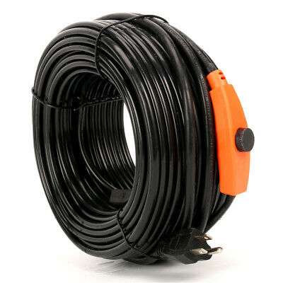 120FT,Heat Roof Gutter De-icing Ice Snow Melter Cable Tape Kit -