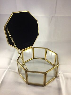 Wholesale Job Lot Hexagonal Jewellery Boxes with Mirrored top Ex High Street