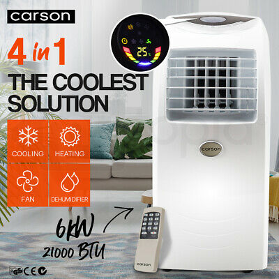 NEW 4-in-1 Portable AIR CONDITIONER Reverse Cycle Heater DEHUMIDIFIER 21,000 BTU