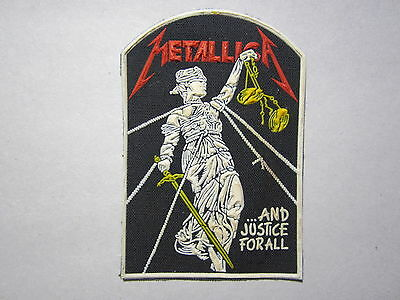 METALLICA ...And Justice For All synthetic rubber patch RARE!!! thrash metal
