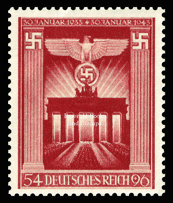 EBS Germany 1943 10th Anniversary of Nazi Power Machtergreifung Michel 829 MNH**