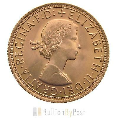 Gold Full Sovereign - Elizabeth II, Young Head