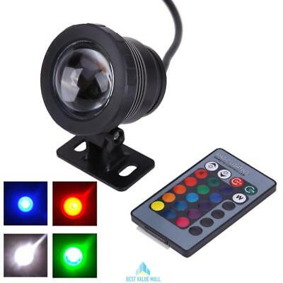 10W 16 Colors RGB LED Underwater Lamp Swimming Pool Pond Light +Remote Control