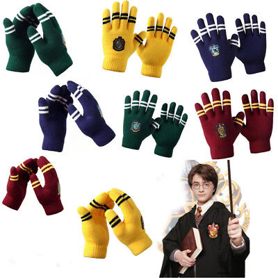 Harry Potter Hufflepuff Gryffindor Touch Gloves Warm Glove Xmas Gift Cosplay New