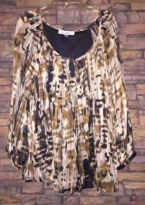 c3b3ddb913ce7c REBECCA MALONE WOMENS Blouse Top Size L Large Paisley - $7.75 | PicClick