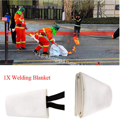 Compact 3.9ft X 5.9ft Fiberglass Welding Blanket Protect Work Area From Sparks
