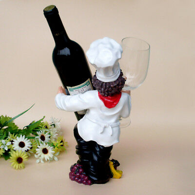 1Pcs Personality Chef Ornaments New Creative Figures Wine Rack Resin Wine Rack