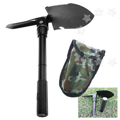 Camping Folding Shovel Spade Metal Pick Axe Emergency Entrench Army Hand Tool