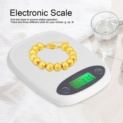 7kg Modern White Digital LCD Electronic Kitchen Cooking Food Weighing Scales BT