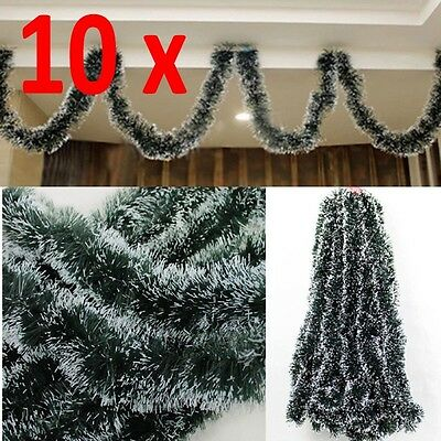 10x Christmas Tree Ornament Decor Party Holiday Dark Green Ribbon Xmas Decor