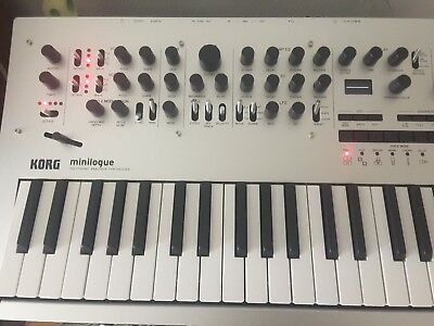 KORG MINILOGUE POLYPHONIC ANALOG SYNTHESIZER (mint condition with PSU, box +)