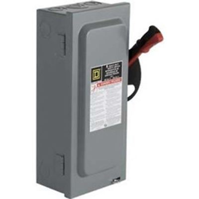 Square D CHU362RB: 60A 3P Type3R 600V AC/DC Safety Switch