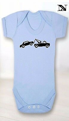 Blue Baby Vest With Tow Truck Image