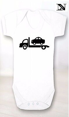 White baby Vest With Recovery Truck Image