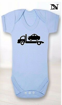 Blue Baby Vest With Recovery Truck Image