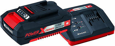 Caricabatteria rapido con batteria Einhell Power-X-Change 18V LITIO Kit 1,5 AH