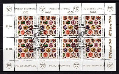 Austria 1990 Stamp Day Sheetlet CTO