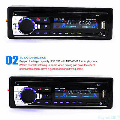 1 DIN Car Stereo Head Unit MP3 Player 12V FM Radio SD/USB/AUX Bluetooth Popular!