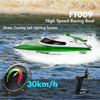 FEI LUN FT009 2.4G 4CH 30km/h RC Green Boat  Water Cooling High Speed Racing AU