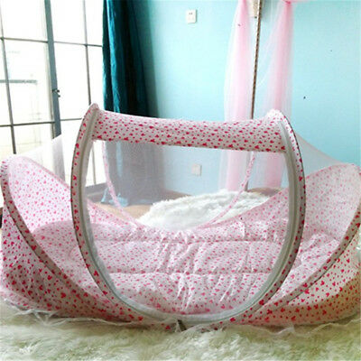 Cute Baby Crib Portable Comfortable Babies Pad With Sealed Mosquito Net Bedding