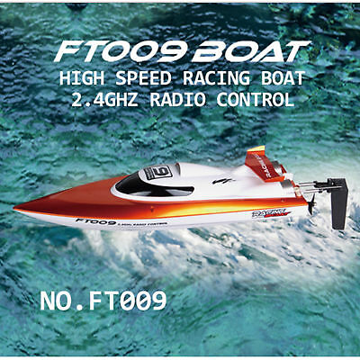 FEI LUN FT009 2.4G 4CH 30km/h RC Orange  Boat  Water Cooling High Speed Racing