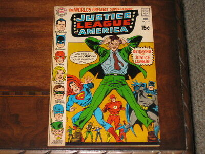 Justice League Of America #77 8.5 VF+ With Off White Pages DC 1969