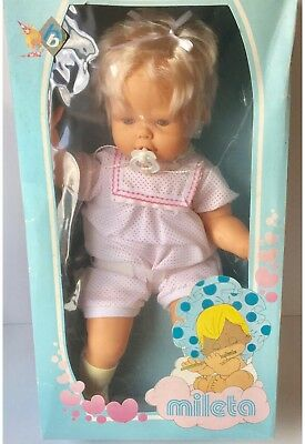 Vintage Mileta Bebe Blandito Made In Spain Mi Bebe Minene BB Doll Mibebe