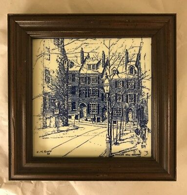 Beacon Hill Boston Tile Hand Painted CM Goff 1968 Thomas J Coughlin Imports